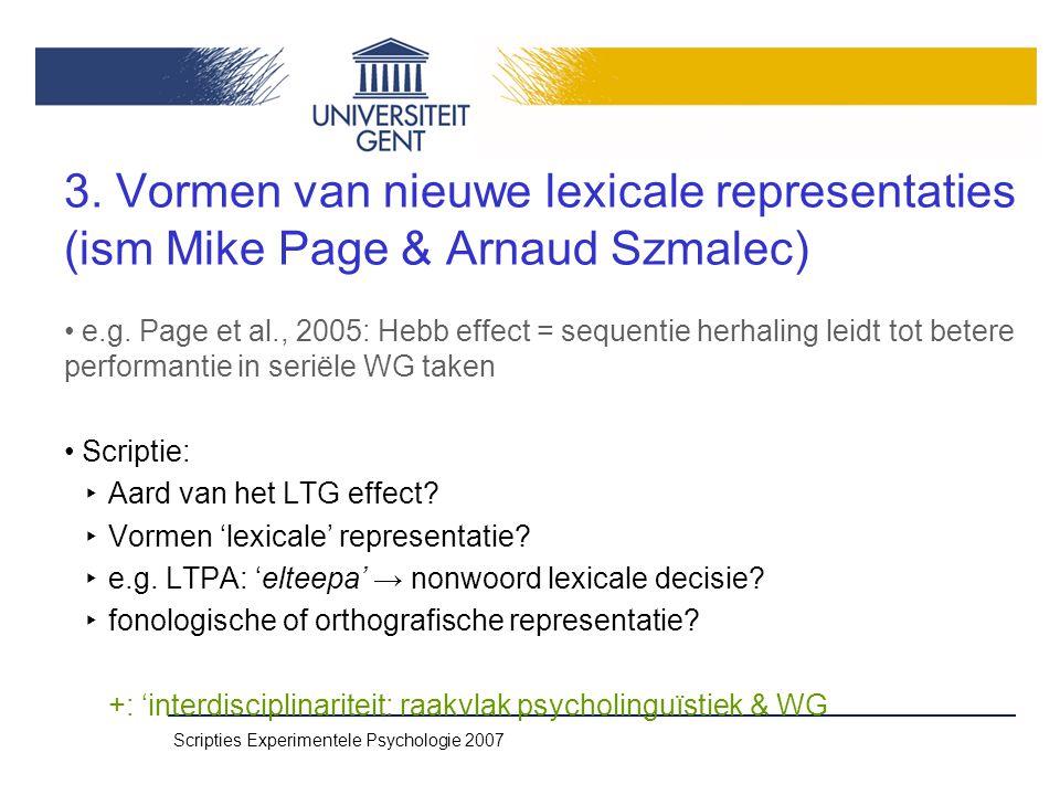 Scripties Experimentele Psychologie 2007 3.