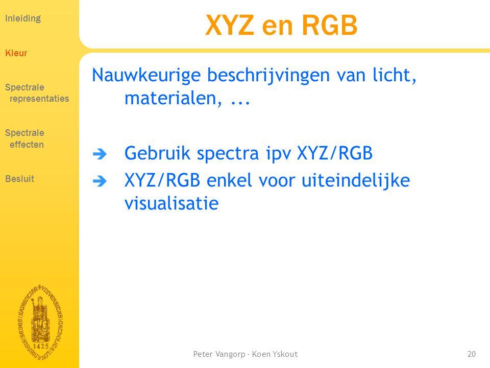 Peter Vangorp - Koen Yskout20 XYZ en RGB Nauwkeurige beschrijvingen van licht, materialen,...
