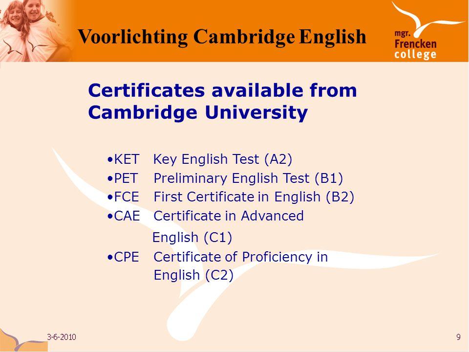 Writing Voorlichting Cambridge English