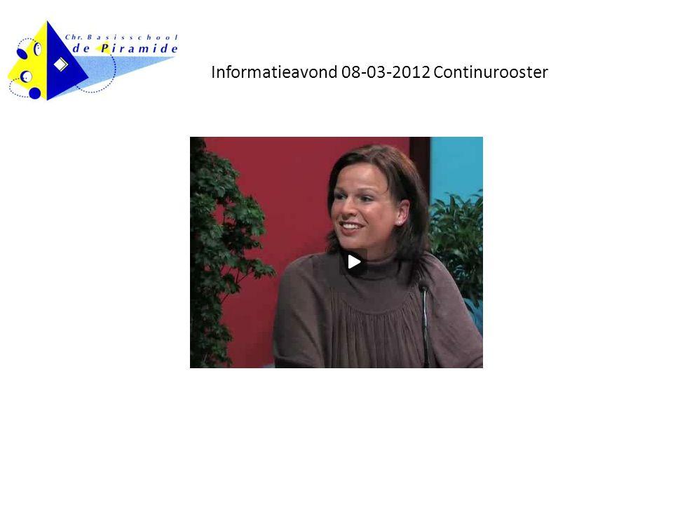 Informatieavond 08-03-2012 Continurooster