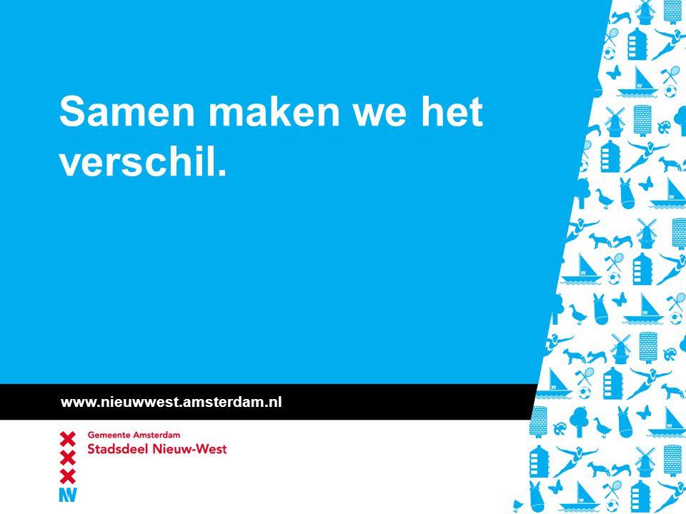 www.nieuwwest.amsterdam.nl Samen maken we het verschil.