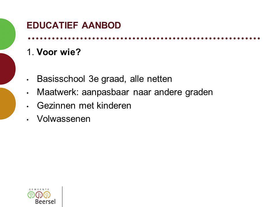 EDUCATIEF AANBOD 1. Voor wie.