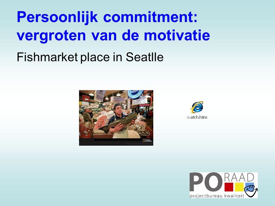 Persoonlijk commitment: vergroten van de motivatie Fishmarket place in Seatlle