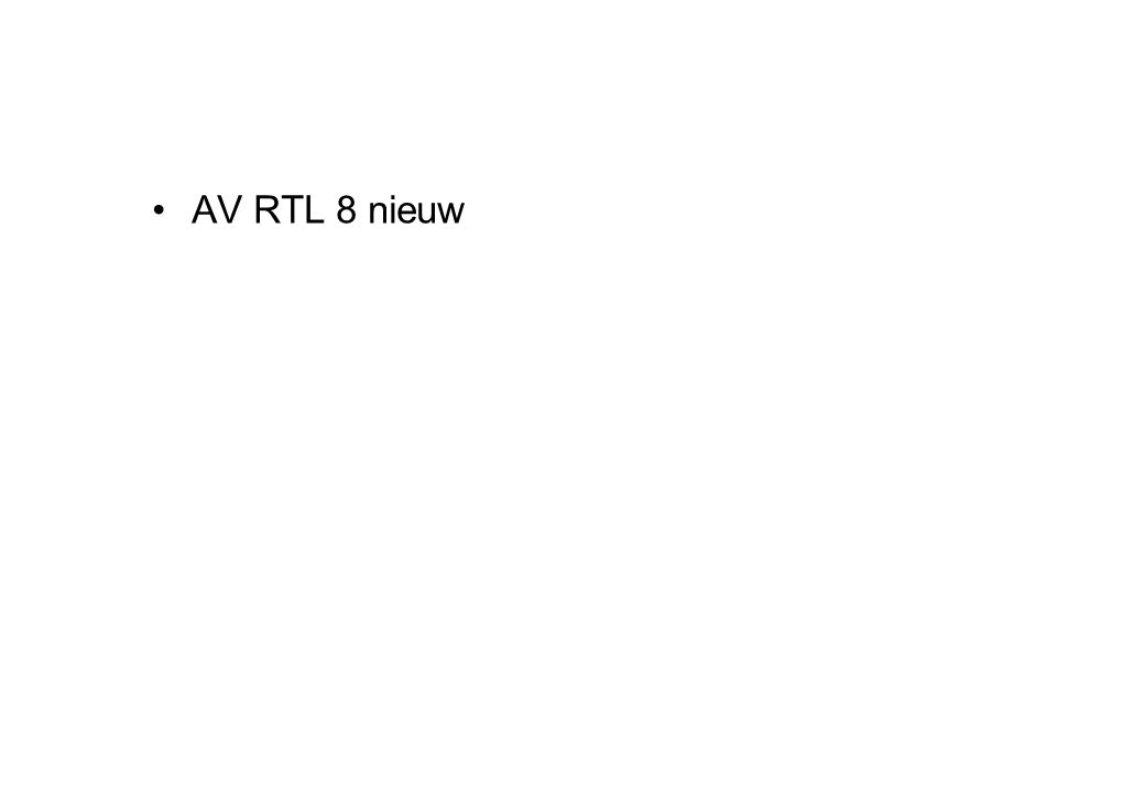 •AV RTL 8 nieuw