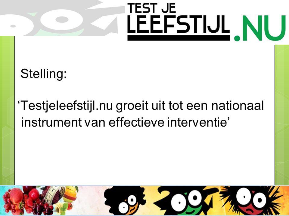 Stelling: 'Testjeleefstijl.nu groeit uit tot een nationaal instrument van effectieve interventie'