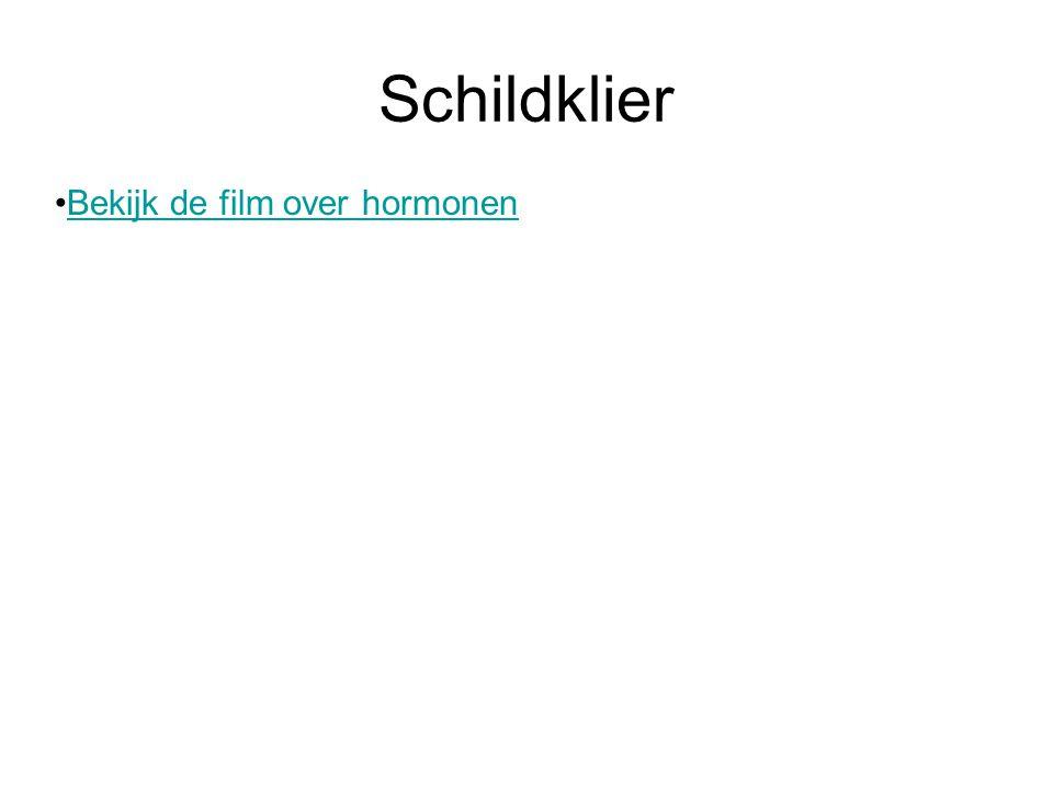 Schildklier •Bekijk de film over hormonenBekijk de film over hormonen