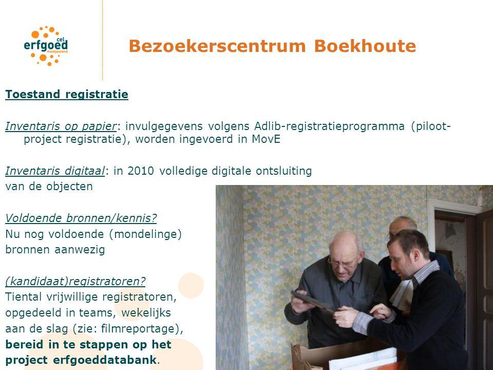 Bezoekerscentrum Boekhoute Toestand registratie Inventaris op papier: invulgegevens volgens Adlib-registratieprogramma (piloot- project registratie),