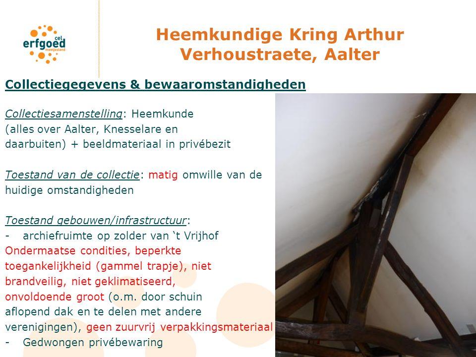 Heemkundige Kring Arthur Verhoustraete, Aalter Collectiegegevens & bewaaromstandigheden Collectiesamenstelling: Heemkunde (alles over Aalter, Knessela