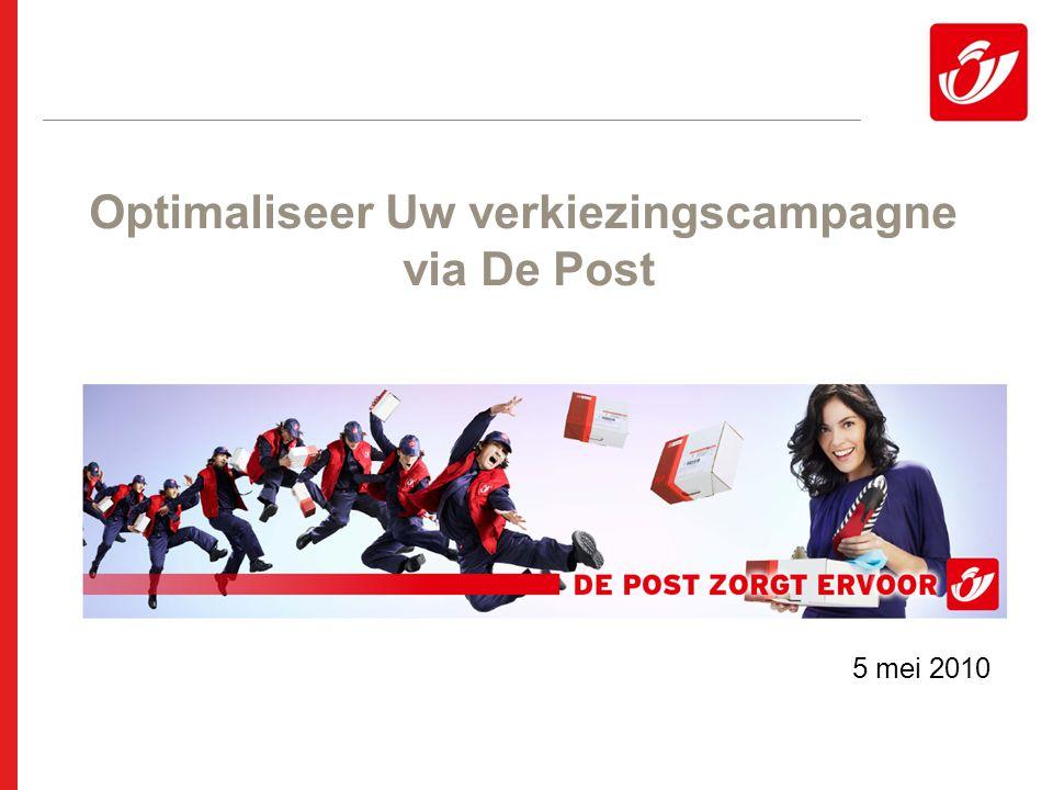 21 Ongeadresseerd drukwerk: praktisch Verkiezingsdrukwerk wordt in alle brievenbussen bedeeld, ook de brievenbussen met een sticker 'geen reclame'.