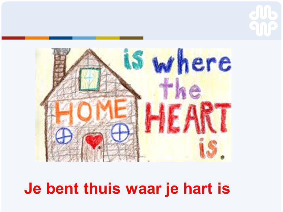 Je bent thuis waar je hart is