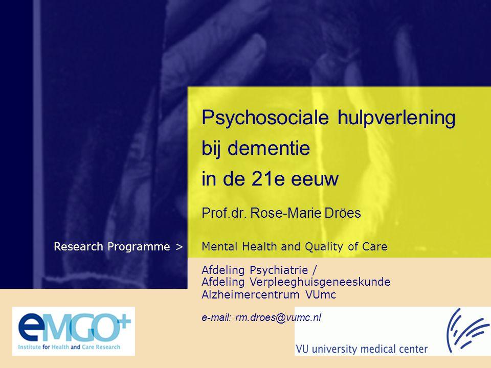 Inhoud • Verschillende perspectieven in de zorg • Het psychosociale perspectief bij dementiezorg • Kwaliteit van leven: wat is dat eigenlijk.
