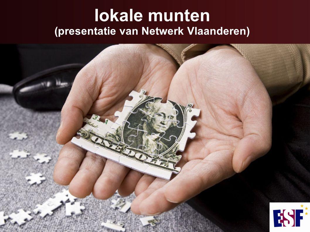 lokale munten (presentatie van Netwerk Vlaanderen)