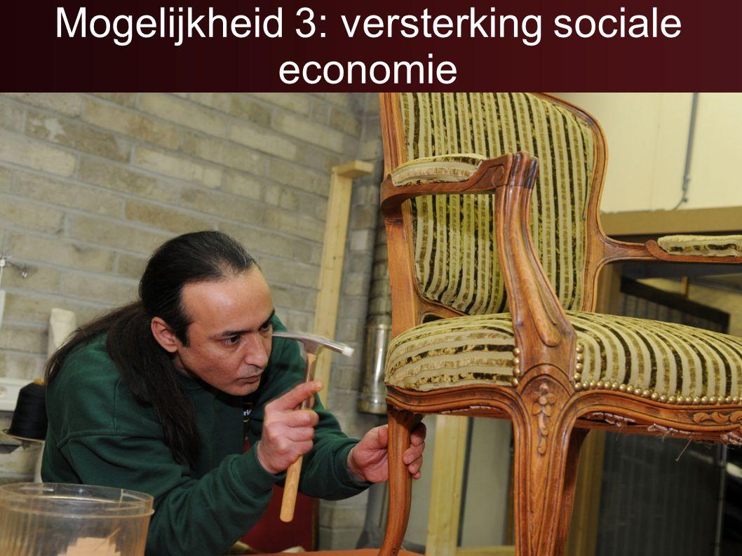 Mogelijkheid 3: versterking sociale economie