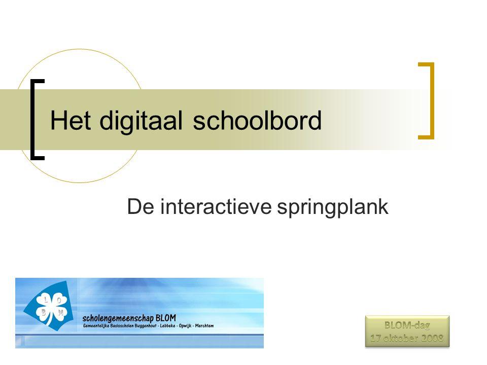 Het digitaal schoolbord De interactieve springplank