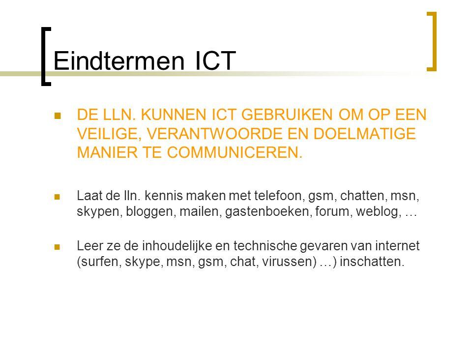 Eindtermen ICT  DE LLN.