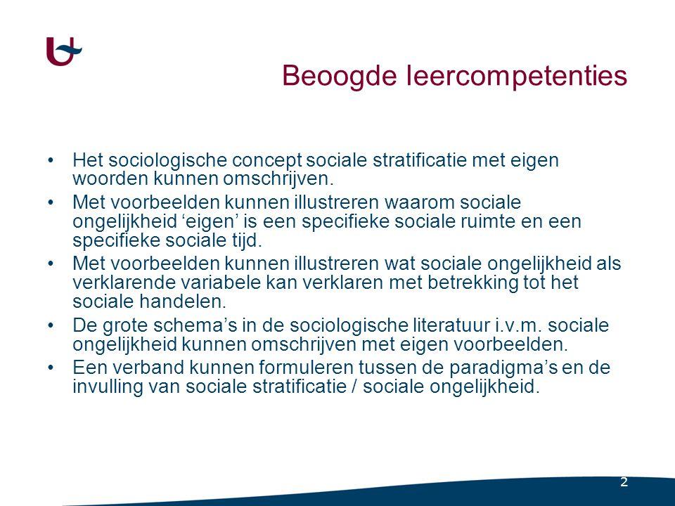 3 Twee typerende sociale relaties (Vranken, 2001) Relaties van nevenschikking Sociale ongelijkheid Relaties van boven- en onderschikking Sociale differentiatie of sociale verscheidenheid Dus 'verschillende soorten van verschillen'
