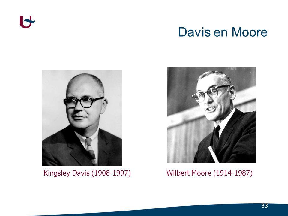 33 Davis en Moore Kingsley Davis (1908-1997)Wilbert Moore (1914-1987)