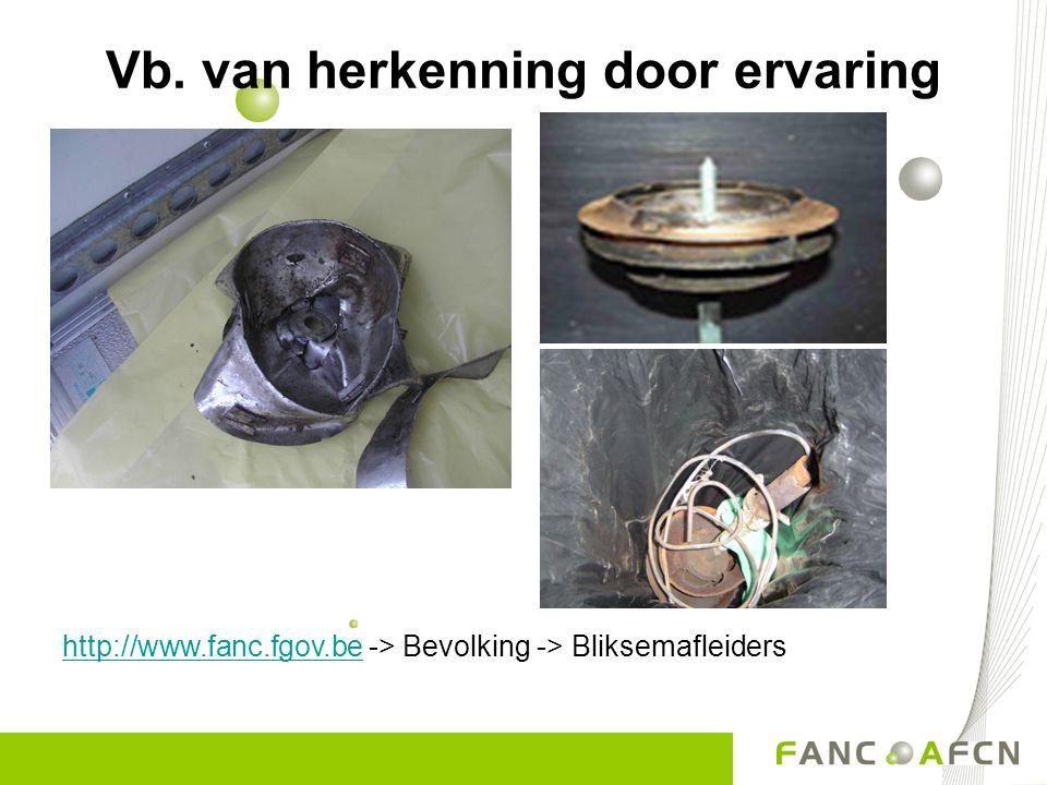 http://www.fanc.fgov.behttp://www.fanc.fgov.be -> Bevolking -> Bliksemafleiders Vb. van herkenning door ervaring