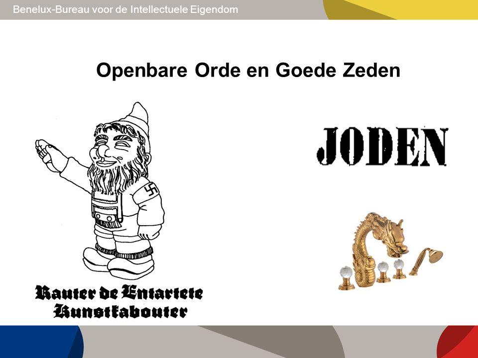 Benelux-Bureau voor de Intellectuele Eigendom Openbare Orde en Goede Zeden