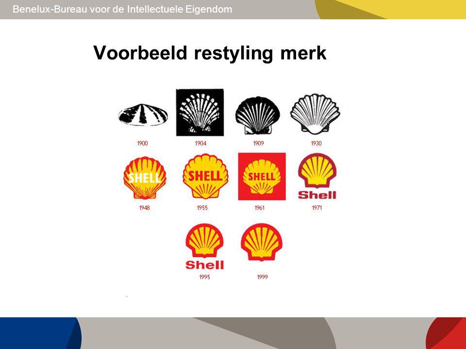 Benelux-Bureau voor de Intellectuele Eigendom Voorbeeld restyling merk