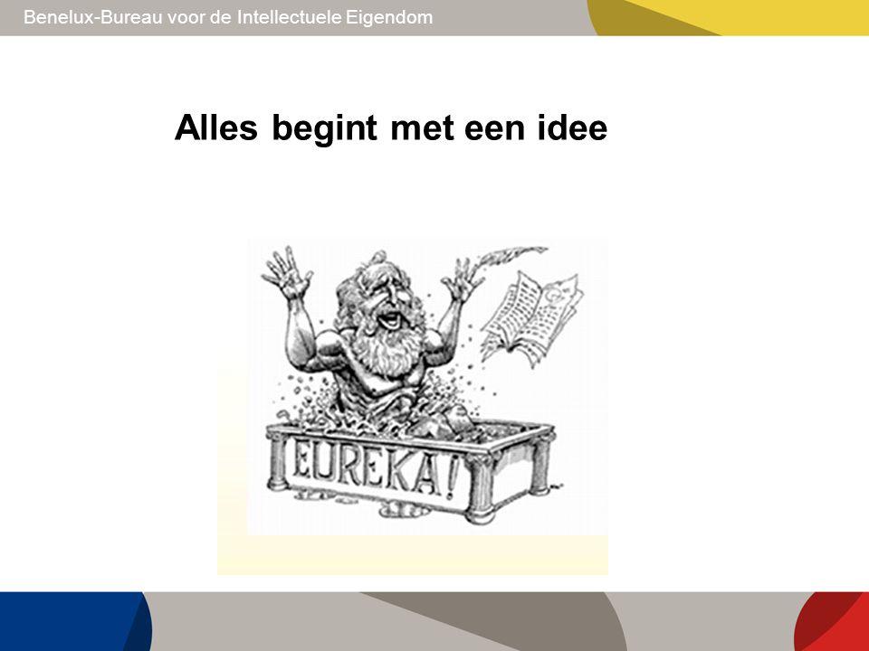 Benelux-Bureau voor de Intellectuele Eigendom Alles begint met een idee
