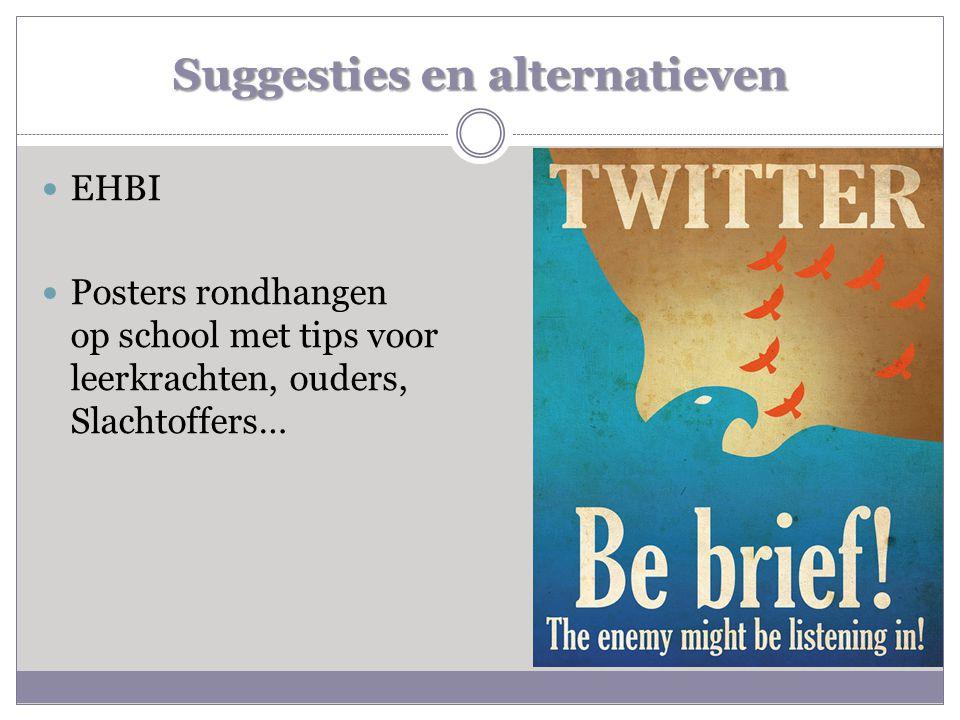  EHBI  Posters rondhangen op school met tips voor leerkrachten, ouders, Slachtoffers…