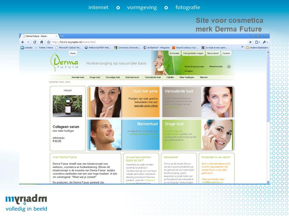 Site voor cosmetica merk Derma Future