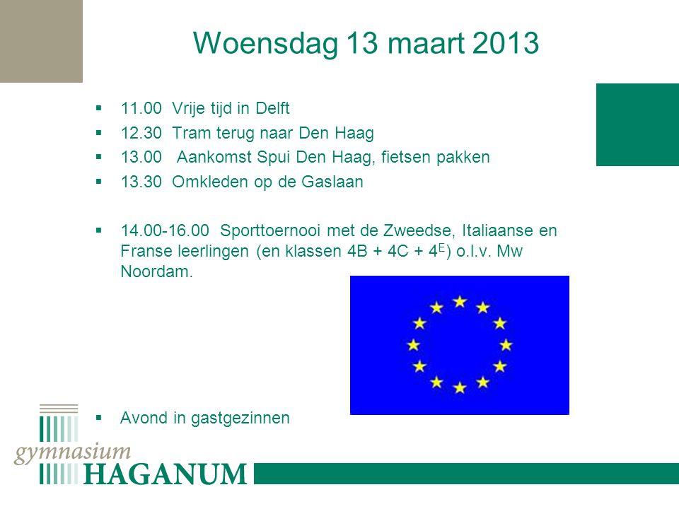 Donderdag 14 maart 2013 8.15 Verzamelen op school 8.30 Bus vertrekt naar Amsterdam 10.15 Speurtocht aan de hand van opdrachten door het centrum van Amsterdam