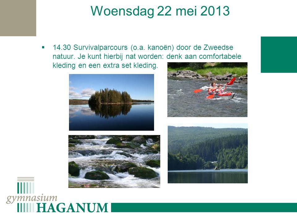 Woensdag 22 mei 2013  14.30 Survivalparcours (o.a.