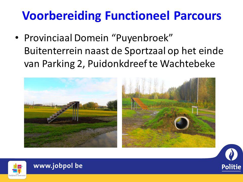"""Voorbereiding Functioneel Parcours • Provinciaal Domein """"Puyenbroek"""" Buitenterrein naast de Sportzaal op het einde van Parking 2, Puidonkdreef te Wach"""
