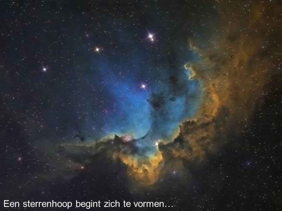 Een sterrenhoop begint zich te vormen…