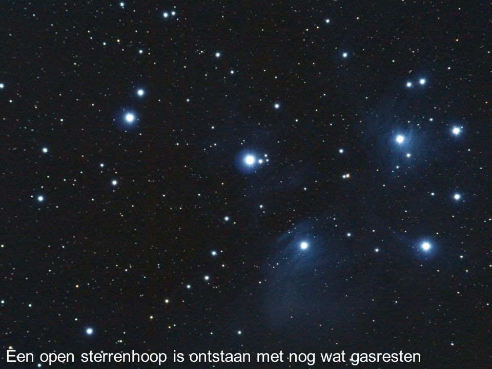 Een open sterrenhoop is ontstaan met nog wat gasresten