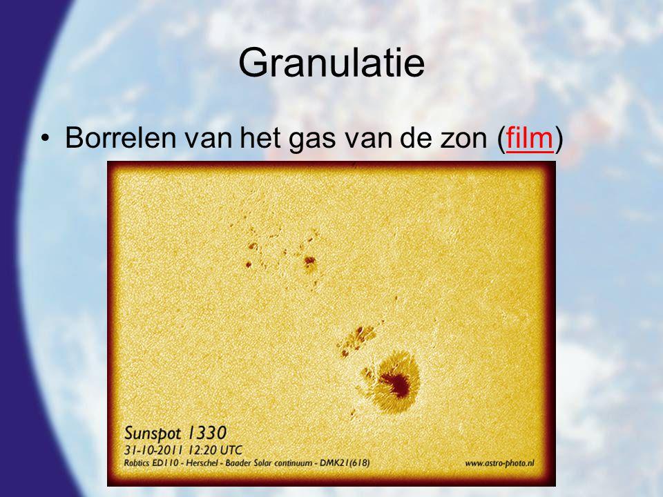 Granulatie •Borrelen van het gas van de zon (film)film