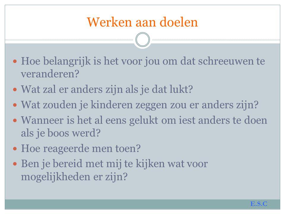 www.signsofsafety.nl Het Framework; 4 domeinen 3.Waar zijn we op een schaal van 0 tot 10.