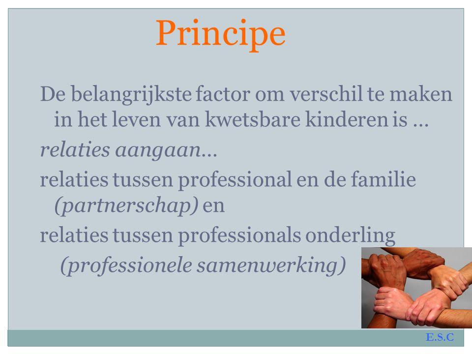 Principe Om fouten in de jeugdhulpverlening te verminderen is het nodig om….