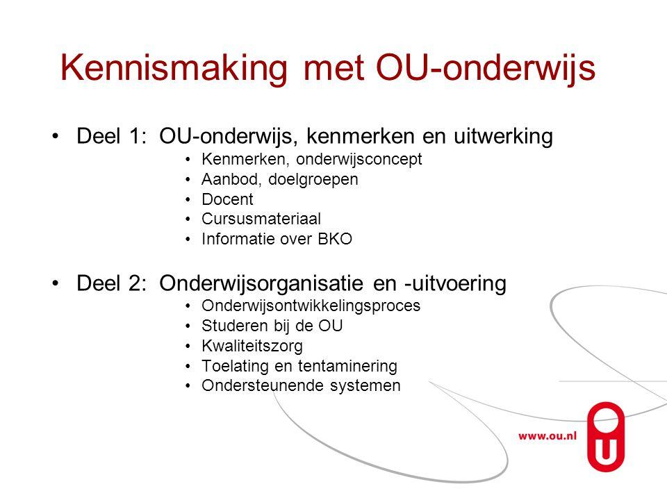 De ELO's van de OU Studienet : •Blackboard, Moodle •Question Mark Perception •Elluminate OpenU: •Liferay