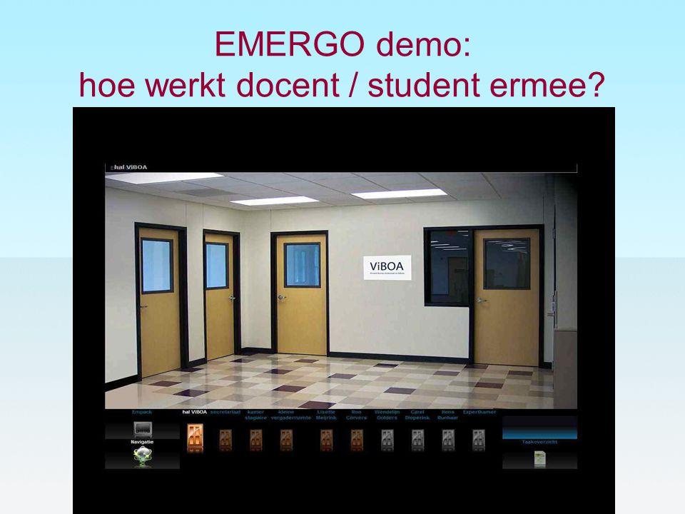 EMERGO demo: hoe werkt docent / student ermee?