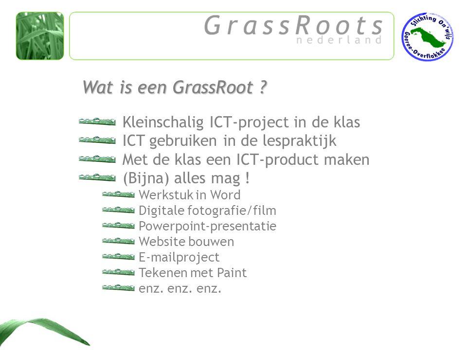 Surf naar: Ideeën nodig .www.grassroots.nl Project aanmelden .