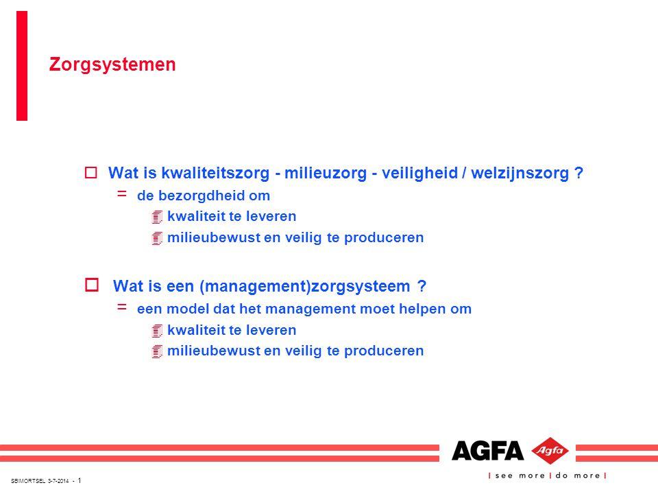 SB\MORTSEL 3-7-2014 - 1 oWat is kwaliteitszorg - milieuzorg - veiligheid / welzijnszorg ? = de bezorgdheid om 4kwaliteit te leveren 4milieubewust en v
