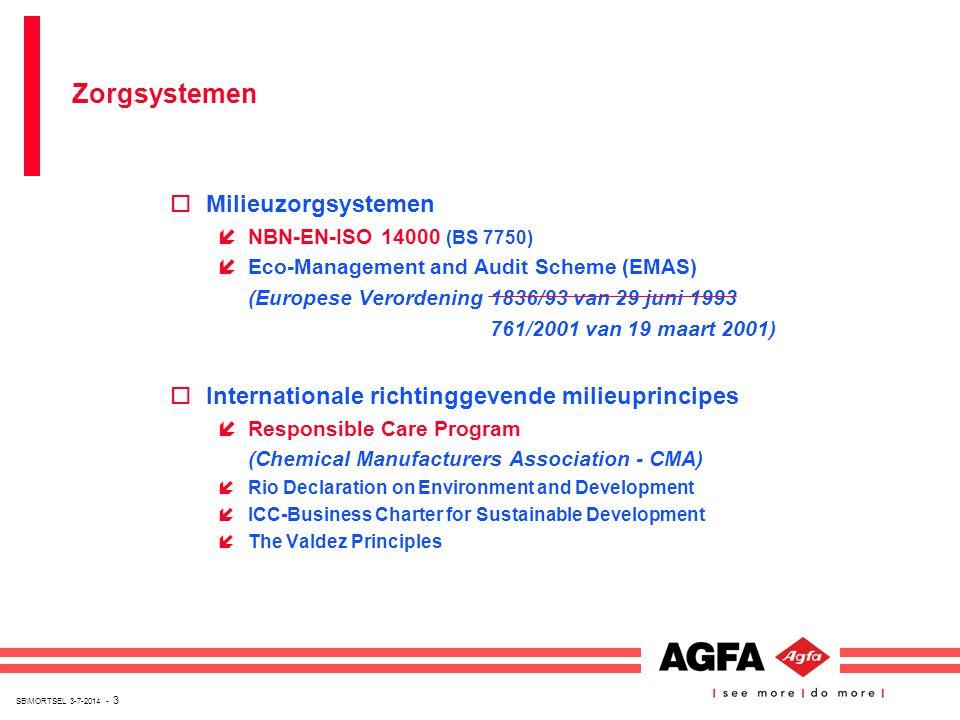 SB\MORTSEL 3-7-2014 - 3 oMilieuzorgsystemen íNBN-EN-ISO 14000 (BS 7750) íEco-Management and Audit Scheme (EMAS) (Europese Verordening 1836/93 van 29 j