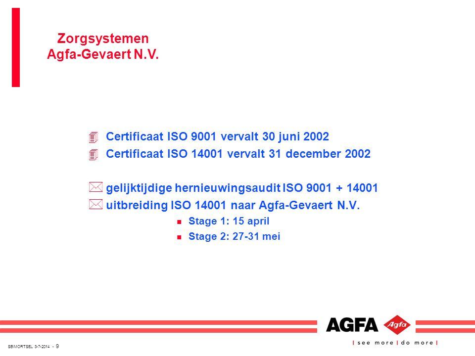 SB\MORTSEL 3-7-2014 - 9 4Certificaat ISO 9001 vervalt 30 juni 2002 4Certificaat ISO 14001 vervalt 31 december 2002 * gelijktijdige hernieuwingsaudit I