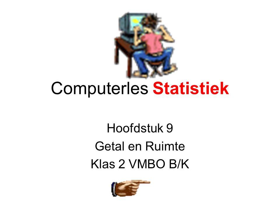 Computerles Statistiek Hoofdstuk 9 Getal en Ruimte Klas 2 VMBO B/K