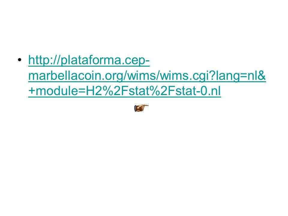 •http://plataforma.cep- marbellacoin.org/wims/wims.cgi?lang=nl& +module=H2%2Fstat%2Fstat-0.nlhttp://plataforma.cep- marbellacoin.org/wims/wims.cgi?lan