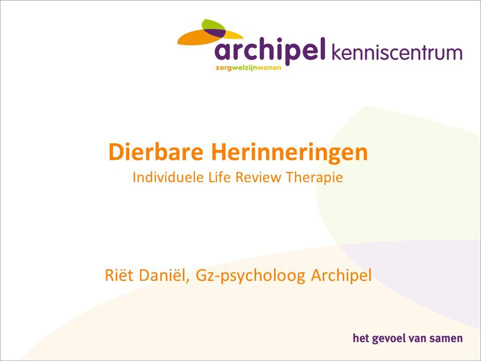 Dierbare Herinneringen Individuele Life Review Therapie Riët Daniël, Gz-psycholoog Archipel