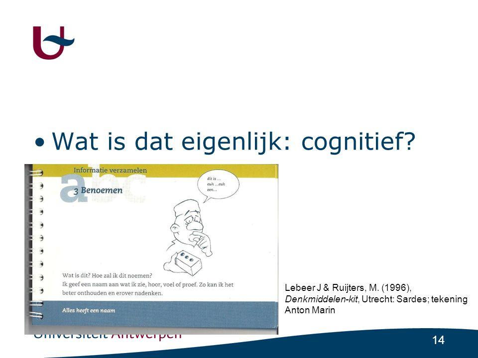 14 •Wat is dat eigenlijk: cognitief.Lebeer J & Ruijters, M.