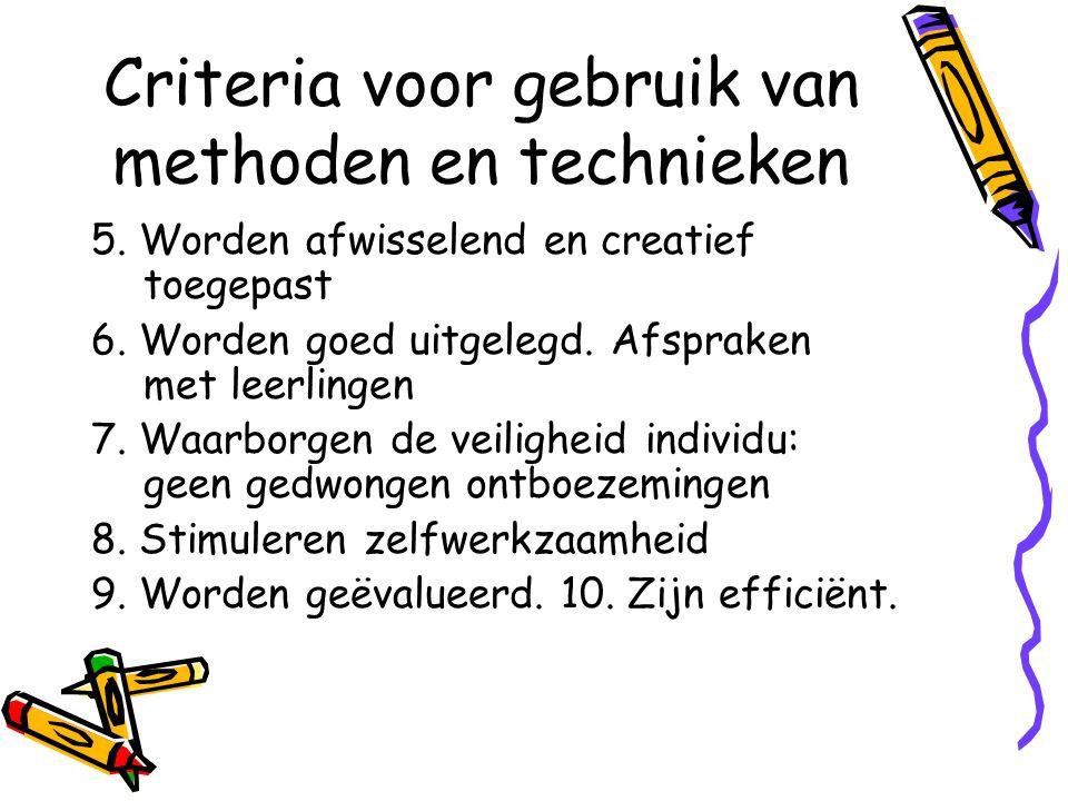 Didactische weg Weg tussen beginsituatie en einddoel Voordelen: Leerling weet wat er verwacht wordt.