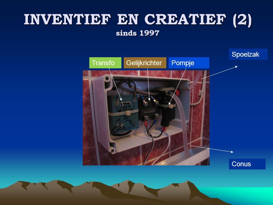 INVENTIEF EN CREATIEF (2) sinds 1997 TransfoGelijkrichterPompje Spoelzak Conus