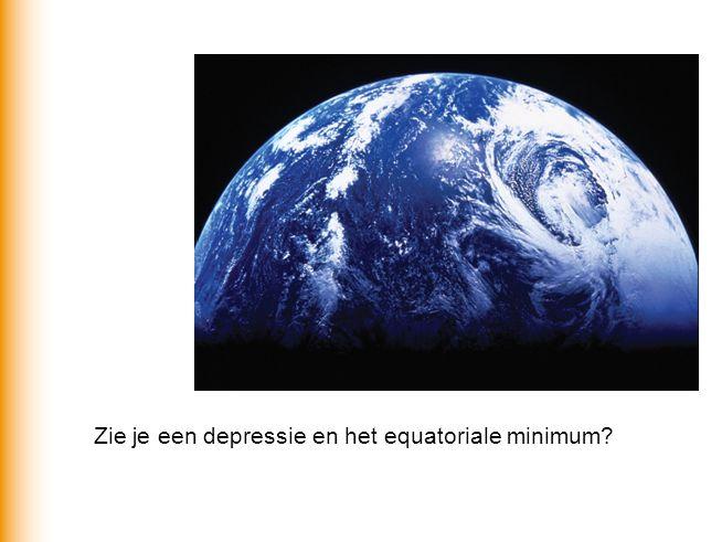 Zie je een depressie en het equatoriale minimum?
