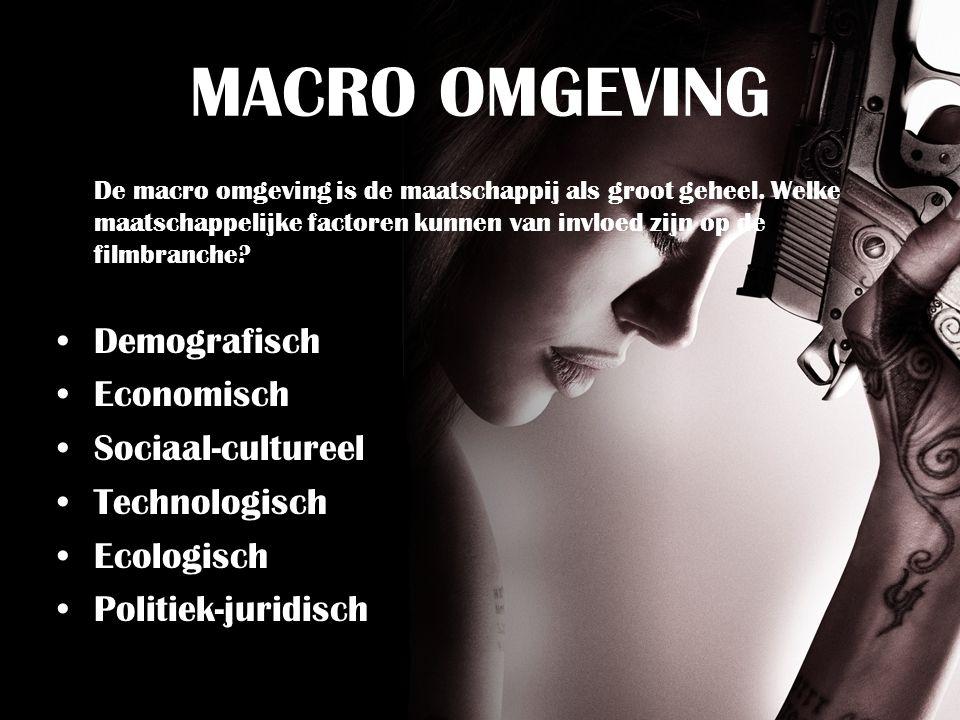 MACRO OMGEVING De macro omgeving is de maatschappij als groot geheel.
