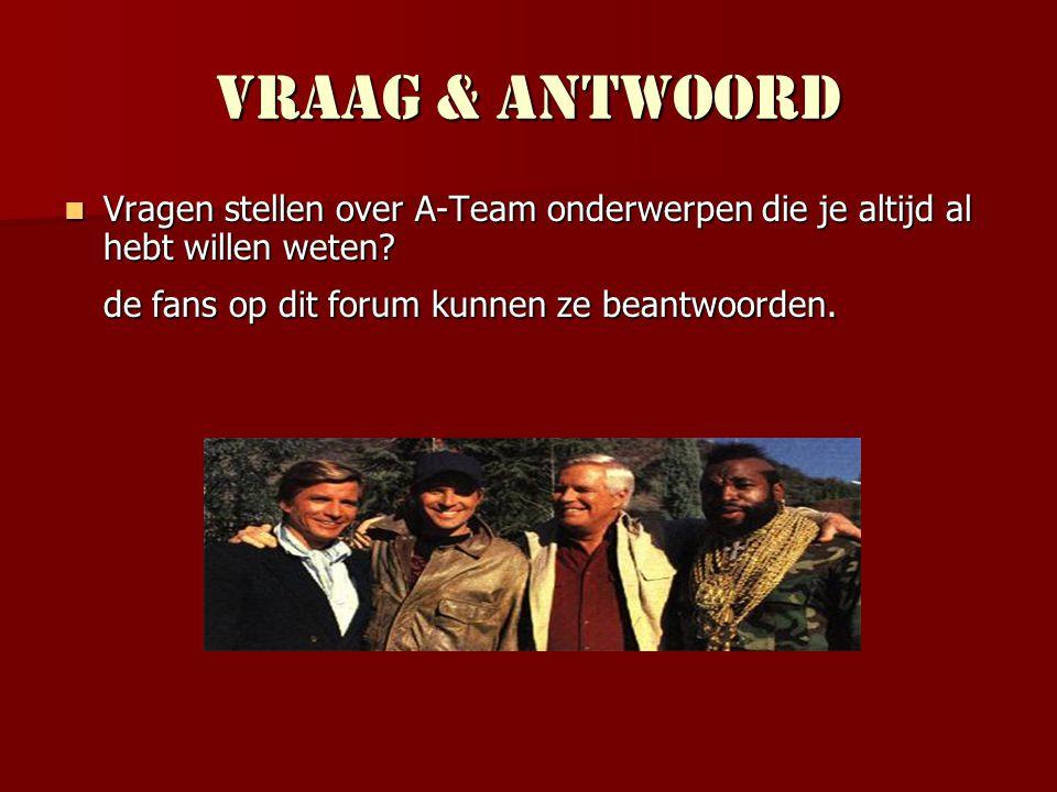 Spelletjes Het meest populaire spel op ateamfans.nl is de A-Team-mêlee.